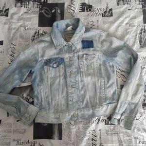 Levi Strauss distressed light blue denim jacket